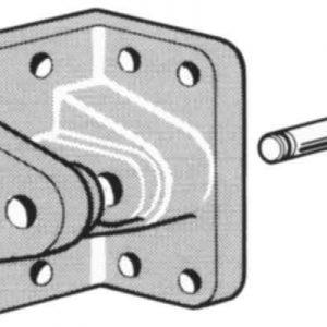Zawias sprężyny gazowej, o 8mm zdjęcie numer 1