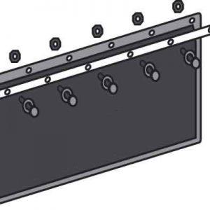 Listwa mocująca ze śrubami 650 mm zdjęcie numer 1