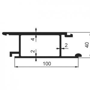 Profil wywrotki środkowy 100×40 mm zdjęcie numer 1